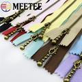 Meetee – fermeture éclair en Bronze, 15/20/30/40cm, 10 pièces, 3 #, pour couture, bricolage, sacs,