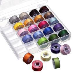 Boîte de bobines de fil à coudre transparente, ligne de ruban, couleur fixe, 25 grilles, haute