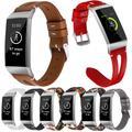 Essidi – Bracelet en cuir pour montre connectée Fitbit Charge 3 4, boucle de remplacement