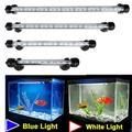 Barre lumineuse étanche pour Aquarium, bleu/blanc, 19/29/39/49CM, lampe Submersible à pince, décor