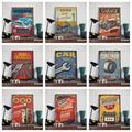 Affiche rétro vintage, ancienne, peinture industrielle, style de voiture, station-service, motocha,