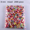 Pompons souples en fourrure de 8mm, 2000 pièces, artisanat, vêtements, couture, tissu, fournitures,