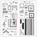 Tampon français Transparent pour Scrapbooking, en Silicone, caoutchouc Transparent, décor d'album