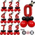 20 pièces rouge Mickey mouse enfants douche anniversaire Latex aluminium ballon fête décoration