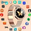 Montre connectée en diamant pour femmes, Bracelet de luxe, étanche IP68, moniteur d'activité