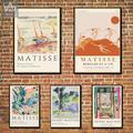 Affiches et imprimés rétros d'henry Matisse, image abstraite de toile d'art mural Vintage pour