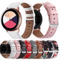 Essidi 20mm Bracelet en cuir pour Samsung Galaxy montre Active 1 2 Bracelet intelligent Bracelet