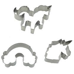3 pièces/ensemble acier inoxydable licorne emporte-pièce bonbons Biscuit moule outils de cuisson