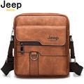 JEEP BULUO – sac à bandoulière en croûte de cuir pour hommes, sacoche Business iPad, livraison