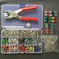 Pince + un jeu de œillets + 100 kits, 10 couleurs, 9,5 mm, 1 pièce, attaches à boutons pression,