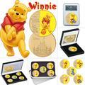Pièce de collection plaquée or avec ours de dessin animé américain, classique, cadeau Souvenir