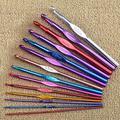Ensemble de crochets à Crochet, poignée en métal 2-8mm, aiguilles à tricoter colorées en acier