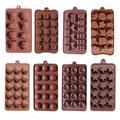 Silicone chocolat moule gâteau ustensiles de cuisson outils de cuisson rond silicone glaçon bonbons
