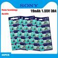 SONY – batterie de montre longue durée, 25 pièces/lot, AG1 364 LR621 164 531 SR60 SR621SW 1.55V,