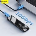 Baseus – Boîtier de disque dur externe de 10 Gbps, clé, M.2, NVME, NGFF, SSD SATA à USB type C et