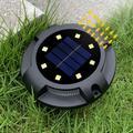 Spot lumineux solaire en acier inoxydable, encastrable dans le sol, éclairage d'extérieur, idéal
