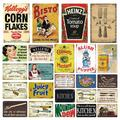 Ustensiles de cuisine alimentaire métal étain signe cuisine fourchette Vintage signes plaque rétro