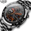 LIGE – montre connectée de sport pour hommes, écran entièrement tactile, étanche IP67, Bluetooth,