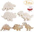 Moules à biscuits à Fondant en forme de dinosaure, 3 pièces, pour bricolage, outils de cuisson de
