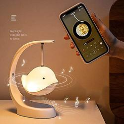 N/C Flying Bird Bluetooth Speaker Night Light Touch Sensor Bedside Table Light Stepless Dimming and 7 Kinds of Color Changing Portable Outdoor Camping Light, The Best Gift for Children