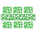 St Patrick's Day Table Runner Lucky Clover St Patrick's Day Decorations for St. Patrick's Day Fireplace Home Decoration, Dining Table Decor