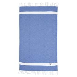 Highland Dunes Fortin Pestemal Turkish Cotton Beach Towel 100% Cotton in Gray/Blue | Wayfair 5560C01C640A483CA689903314C9CBD9