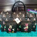 Disney Bags | Disney Mickey Minnie Mouse Monogram Weekender Bag | Color: Brown | Size: Os