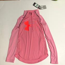 Under Armour Shirts & Tops | Girls Size Large Under Armour Half Zip Shirt | Color: Black/Pink | Size: Lg