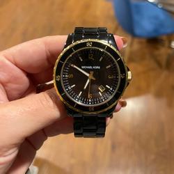 Michael Kors Accessories   Michael Kors Black & Gold Watch   Color: Black/Gold   Size: Womens Watch - Adjustable.