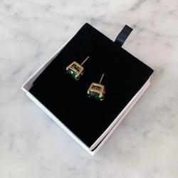 Kate Spade Jewelry   Kate Spade Round Cut Earrings, Emerald Green   Color: Green   Size: Os
