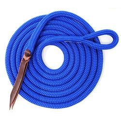 Knotty Girlz Premium 9/16 Double Braid Polyester Yacht Rope Horse Lead Rope Natural Horsemanship w/Loop or Snap 12ft. or 14ft. Lengths (Ultra Marine, 12 ft. Nickel Trigger Snap)