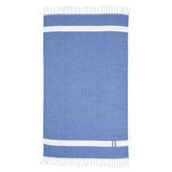 Winston Porter Privette Personalized Pestemal 100% Turkish Cotton Beach Towel Turkish Cotton in Gray/Blue | Wayfair