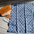 Louis Vuitton Accessories | New Rare Louis Vuitton 100% Silk Square Scarf | Color: Blue/White | Size: Os