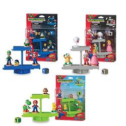 EPOCH Games Super Mario Balancing Game Bundle, 3 Tabletop Action Games for Ages 4+ with 12 Collectible Super Mario Action Figures, Multi (7386)