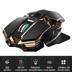 Souris de jeu ergonomique, filaire ou sans fil 2.4GHz, optique, pour ordinateur portable et Gamer,