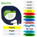 Labelife – ruban d'étiquettes pour imprimante Dymo LetraTag, 91200, 12mm, 1 paquet, noir sur blanc,