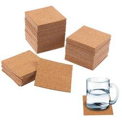 Sous-verres carrés en liège auto-adhésifs, 10 pièces, feuilles de support en liège pour sous-verres