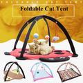 Tente Portable pliable pour chat, jouets amusants pour animaux de compagnie, activité Mobile, tapis