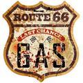 Autocollant Route 66 réservoir d'essence, ancienne école, café Racer Ace Bobber, culte #11