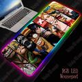 XGZ Anime Une Pièce Grand RVB LED Souris 7 Couleurs USB Filaire Éclairage Jeu Gamer Rétro-Éclairage