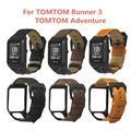 Bracelet de montre en cuir véritable avec fermoir en métal, pour TomTom Runner 2 3 Spark 3