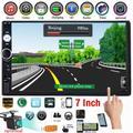 Autoradio avec lecteur multimédia 7 pouces, 2 Din, Bluetooth, USB, FM, écran tactile HD MP5,