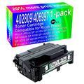 1-Pack (Black) Compatible High Yield 402809/406997 Toner Cartridge Use for Ricoh Aficio SP 4110N SP 4110SF SP 4210N SP 4100N SP 4100 SP 4100SF SP 4100N-KP SP 4310 SP 4310N P7031N Printer