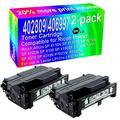 2-Pack (Black) Compatible 402809/406997 Laser Printer Toner Cartridge High Yield Use for Ricoh Aficio SP 4110N SP 4110SF SP 4210N SP 4100N SP 4100 SP 4100SF SP 4100N-KP SP 4310 SP 4310N P7031N Printer
