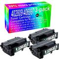 3-Pack (Black) Compatible High Yield 402809/406997 Imaging Toner Cartridge use for Ricoh Aficio SP 4110N SP 4110SF SP 4210N SP 4100N SP 4100 SP 4100SF SP 4100N-KP SP 4310 SP 4310N P7031N Printer