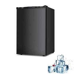 Electactic Mini Chest Freezer Countertop 3.0 Cu.ft Small Freezer Upright Compact Upright Freezer with Reversible Single Door Removable Shelves Free Standing Freezer with Adjustable Thermostat Black
