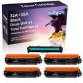 5 Pack Compatible High Capacity CF230A 30A | CF232A 32A Laser Printer Toner Cartridge Drum Unit use for HP Laserjet Pro MFP M227fdn M227fdw M227 Printer (Drum, 4-Toner)