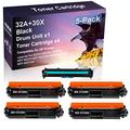 5 Pack (Black) Compatible CF232A 32A | CF230X 30X Laser Printer Toner Cartridge Printer Drum Unit use for HP Laserjet Pro M203d M203dn M203dw Printer(Drum, 4-Toner)