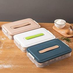 Used in kitchens and Refrigerators, Fresh-Keeping Box Storage Box, Dumpling Box, 3-Layer Moisture-Proof, Good Sealing, Large-Capacity Transparent Storage Box With Lid