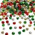 300Pcs Mini Colorful Jingle Bells Bulk, 1/2 Inch Jingle Bells for Festival Crafts Decoration DIY Charms Jewelry Making, Christmas Metal Little Bells, 13 mm